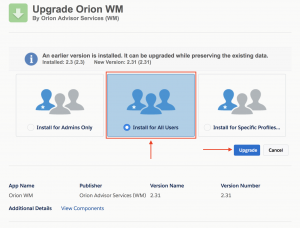 Orion/TD Ameritrade Salesforce Installation Guide v2 33